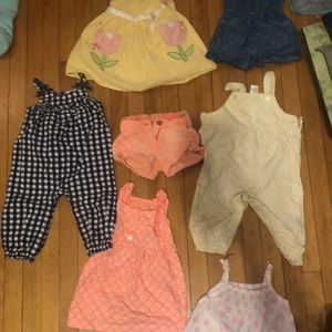 Adorable lot of 12 months girls summer lot